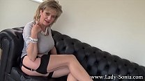 Lady Sonia teasing while giving you jerk off in...