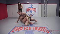 Bella Rossi wants the win so she rolls harder than ever in her naked wrestling match against Ruckus Thumbnail