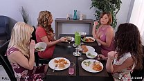 Watch Busty Lesbo Wives Having Fun With Card Games preview