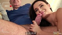 Amateur girlfriend and neighbour fuck the horny old sugar dad and suck his cock deepthroat's Thumb