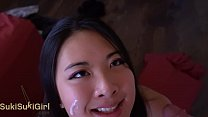 pov b. FACEFUCK for asian whore covered in cum