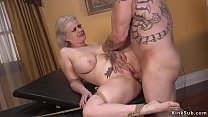 Baldheaded boss Derrick Pierce caught huge tits...