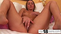 MY18TEENS -  Sexy Bunny Fingering Pussy and Rea...