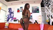 Watch Amazing bubble butted black babe Sarah Banks preview