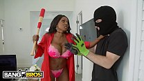 BANGBROS - Black MILF With Big Tits Stands Her Ground When Criminal Breaks In's Thumb