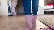Girl in White Socks Masturbates Pussy and Plays...