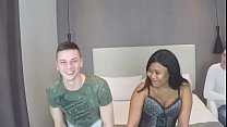 Horny white guy wants to watch her black wife d...