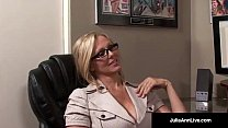 World Famous Milf, Julia Ann is an Office Slut dreaming of Sucking Cock! She Takes Her Co Worker's Hard Cock in Her Mouth & Gets a Hot Load in Her Eye! Full Video & Live @JuliaAnnLive.com's Thumb