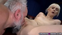 Miss Melissa offers her pussy to a dirty old man