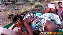 Outdoor Orgy With Ebony Slave Girls