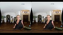 Curvy Blonde_MILF in Sexy Red Lingerie! New VR Porn! Thumbnail