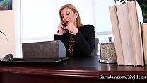 Sexy Blonde Milf Sara Jay is ready to go on her...