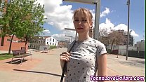 Real cash strapped teen gets fucked outside and...
