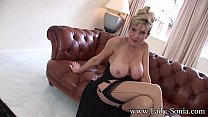 Mature British babe flashing her big tits for y...