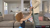 Babysitter Kendall Woods gives a nice sloppy bl...