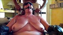 Slut wife in bondage for hours, made to cum and...