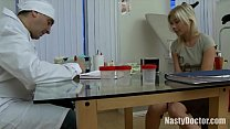 Skinny blonde teen ass-fucked by doctor