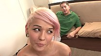 Blonde emo-girl Christina  buris the brisket with_her horny collegemate Thumbnail