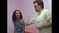 Indian whore with curly hair takes white dick i...