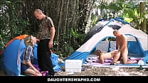 Two Dad's Trade Daughters On Camping Trip's Thumb