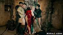 Game of thrones parody where the queen gets gangbanged