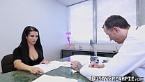 Bubble butt chick smashed by nerdy guy's Thumb