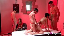 She had came to watch an orgy, but couldn't res...