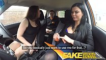 Fake Driving School Teacher fucks up the exam for his pert tits student Thumbnail