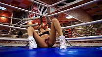Tiny Teen Fingering Wet Pussy at Boxing Club an...