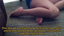 Cousin's Footjob After Watching TV Thumbnail