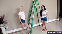 Alice Pink Jessica Jewels and Vienna are some horny chicks who need a job done so they call our stud to paint their walls Little does he know they also want him to paint their faces with his cum!'s Thumb