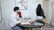 Asian student Paisley Paige bangs with hot tutor