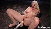 Blonde spreads legs for pussy and anal toying Thumbnail