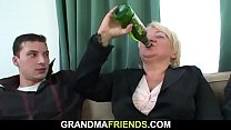 Threesome sex with d. old granny