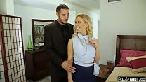 Big tits milf realtor shows her client around.T...