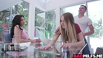 Hot ladies Violet Storm and Becky eases lucky g...