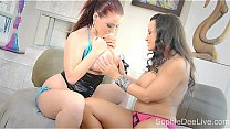 Watch Big Titty British Star_Sophie Dee LOVES To Play With MILF Lisa Ann  -  SophieDeeLive.com! preview