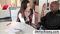 Watch Busty student Noelle Easton swallows her teachers big black cock preview