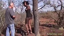 Watch big natural breast african_milf gets rough interracial outdoor fucked by a german big cock safari tourist preview