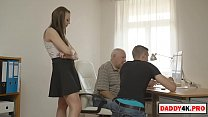 pervert father in law fucks a brunette young chick