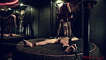 Mistress t. chained slave in her dungeon