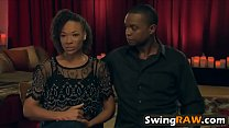 Watch Muscular stud and his girlfriend having an amazing fun with other swingers preview