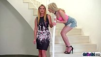 Watch MT1 Chloe Foster thinks her stepmom India Summer cheats on her mom and ask 19yo gf Jane Wilde to help make her stepmom cheat.Jane seduces her and gets her into the bedroom where she lets her suck on her tits.After both licked each other,Chloe joins preview