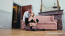 Watch Sexy Young Euro Babe, Lara Duro, shows off her tiny inked body with sweet lingerie & heels, getting her vagina fucked & her mouth drilled by a hard horny cock that cums right in her tight pussy! Full Flick @ Private.com! preview