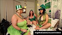 Full figured babes Angelina Castro, Samantha 38g & Trinity Guess dildo bang_their sweet pussies, all dressed up for St. Patty's this March! Full Video & Angelina Live @ AngelinaCastroLive.com! Thumbnail