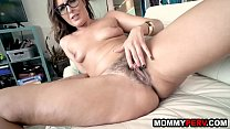 Mature milf with natural tits fucking her step son