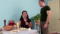 Brother Talk Skinny Step Sister for her First A...