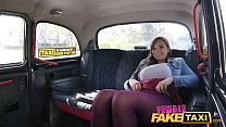 Female Fake Taxi Huge boobs teen licking a blonde pussy for orgasms on backseat of the cab