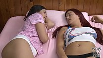 Sensual lesbian sex with an older babe and her ...