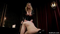 mistress Online videos & Huge tits blonde mistress julia ann wanks off male tony orlando and anal fucks with strap on cock Thumbnail